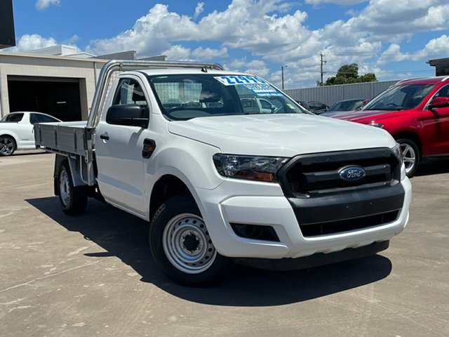 Used Ford Ranger PX MkII XL Maryborough, 2017 Ford Ranger PX MkII XL White 6 Speed Manual Cab Chassis