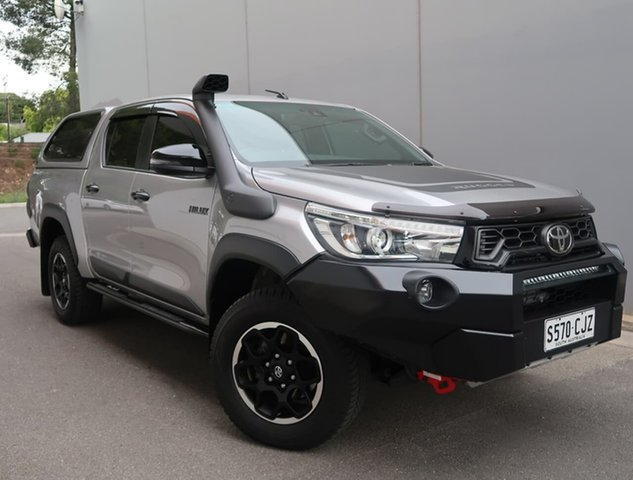 Used Toyota Hilux GUN126R Rugged X Double Cab Reynella, 2019 Toyota Hilux GUN126R Rugged X Double Cab Silver 6 Speed Sports Automatic Utility