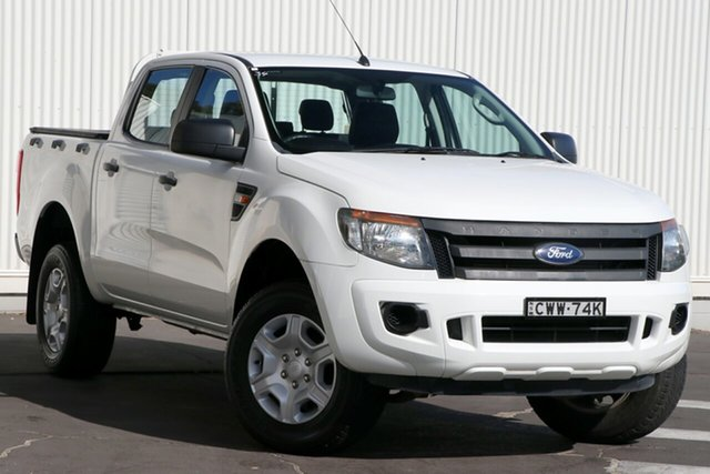 Used Ford Ranger PX XL Hi-Rider Wollongong, 2014 Ford Ranger PX XL Hi-Rider White 6 Speed Sports Automatic Utility