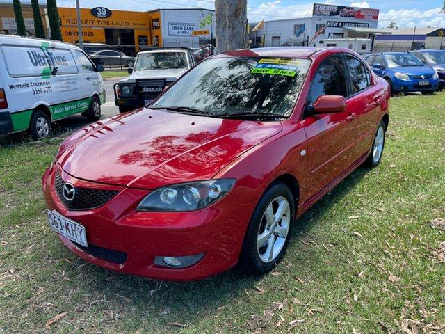 Used Mazda 3 BK10F1 Maxx Sport Clontarf, 2004 Mazda 3 BK10F1 Maxx Sport Maroon 5 Speed Manual Sedan