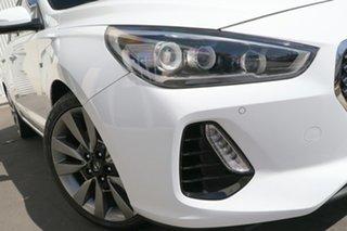 2018 Hyundai i30 PD MY18 SR D-CT Premium White 7 Speed Sports Automatic Dual Clutch Hatchback.