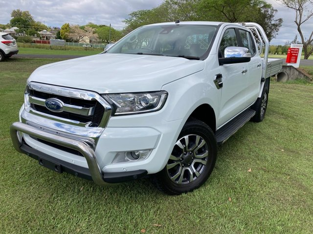 Used Ford Ranger PX MkII MY18 XLT 3.2 (4x4) South Grafton, 2017 Ford Ranger PX MkII MY18 XLT 3.2 (4x4) White 6 Speed Automatic Double Cab Pick Up
