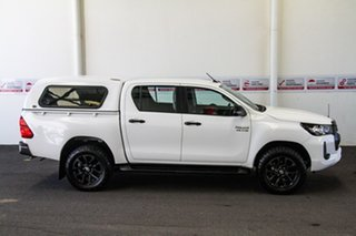 2020 Toyota Hilux GUN126R SR Double Cab Glacier White 6 Speed Sports Automatic Cab Chassis