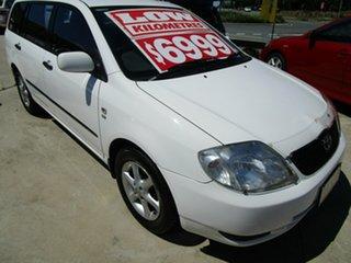2002 Toyota Corolla ZZE122R Ascent White 5 Speed Manual Wagon.