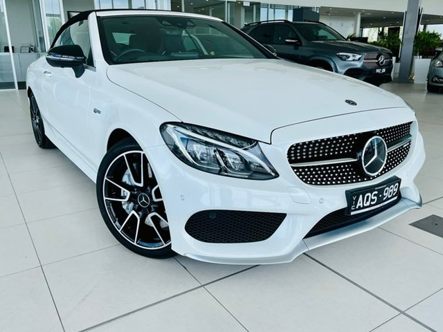 Used Mercedes-Benz C-Class A205 808MY C43 AMG 9G-Tronic 4MATIC Essendon Fields, 2017 Mercedes-Benz C-Class A205 808MY C43 AMG 9G-Tronic 4MATIC White 9 Speed Sports Automatic