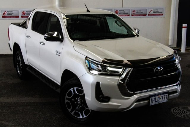 Pre-Owned Toyota Hilux GUN126R SR5 Double Cab Myaree, 2020 Toyota Hilux GUN126R SR5 Double Cab Crystal Pearl 6 Speed Manual Utility