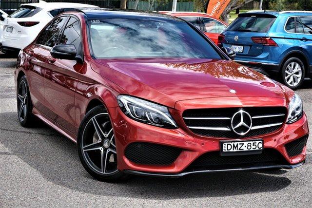 Used Mercedes-Benz C-Class W205 806+056MY C200 7G-Tronic + Phillip, 2016 Mercedes-Benz C-Class W205 806+056MY C200 7G-Tronic + Red 7 Speed Sports Automatic Sedan