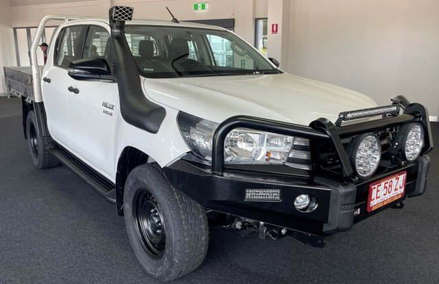 Used Toyota Hilux GUN126R SR Double Cab Winnellie, 2017 Toyota Hilux GUN126R SR Double Cab White 6 Speed Sports Automatic Utility