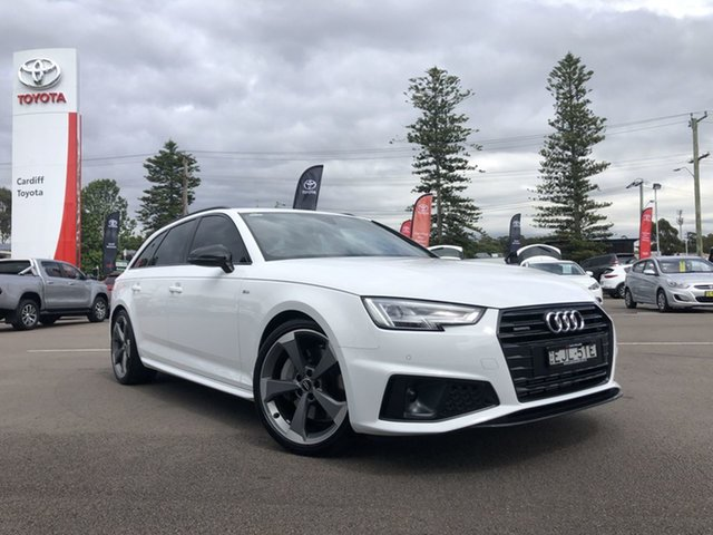 Pre-Owned Audi A4 B9 8W MY19 45 TFSI Avant S Tronic Quattro S Line Cardiff, 2019 Audi A4 B9 8W MY19 45 TFSI Avant S Tronic Quattro S Line White 7 Speed