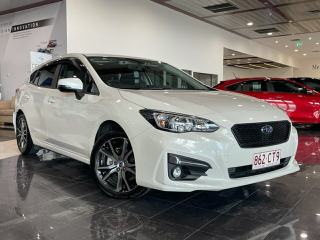 Used Subaru Impreza G5 MY19 2.0i Premium CVT AWD Hervey Bay, 2019 Subaru Impreza G5 MY19 2.0i Premium CVT AWD White 7 Speed Constant Variable Hatchback