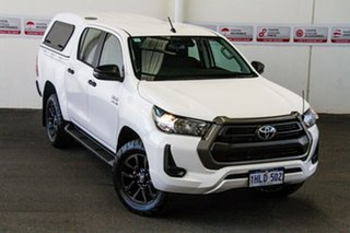 2020 Toyota Hilux GUN126R SR Double Cab Glacier White 6 Speed Sports Automatic Cab Chassis.