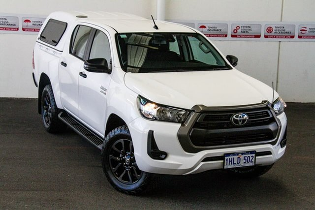 Pre-Owned Toyota Hilux GUN126R SR Double Cab Myaree, 2020 Toyota Hilux GUN126R SR Double Cab Glacier White 6 Speed Sports Automatic Cab Chassis