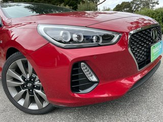2017 Hyundai i30 PD MY18 SR D-CT Fiery Red 7 Speed Sports Automatic Dual Clutch Hatchback.