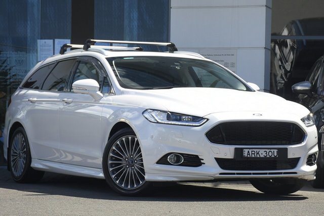 Used Ford Mondeo MD Titanium Sutherland, 2016 Ford Mondeo MD Titanium White 6 Speed Sports Automatic Dual Clutch Wagon