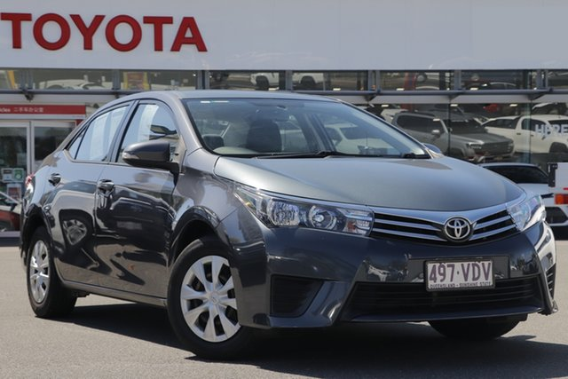Pre-Owned Toyota Corolla ZRE172R Ascent S-CVT Upper Mount Gravatt, 2014 Toyota Corolla ZRE172R Ascent S-CVT Grey 7 Speed Constant Variable Sedan
