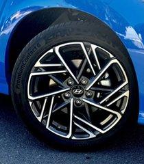 2021 Hyundai Kona Os.v4 MY21 N-Line D-CT AWD Premium Surfy Blue 7 Speed Automatic Wagon.