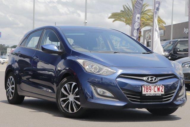 Used Hyundai i30 GD Active Aspley, 2012 Hyundai i30 GD Active Blue 6 Speed Sports Automatic Hatchback
