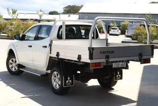 2018 Mitsubishi Triton MQ MY18 GLX Club Cab White 5 Speed Sports Automatic Cab Chassis.
