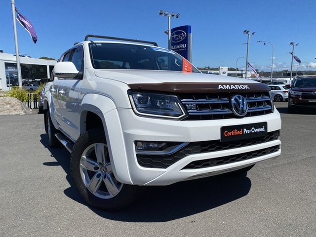 Used Volkswagen Amarok 2H MY17 TDI550 4MOTION Perm Highline Brookvale, 2017 Volkswagen Amarok 2H MY17 TDI550 4MOTION Perm Highline White 8 Speed Automatic Utility