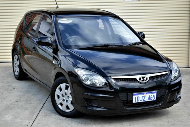 Used Hyundai i30 FD MY10 SX Mount Lawley, 2010 Hyundai i30 FD MY10 SX Black 5 Speed Manual Hatchback