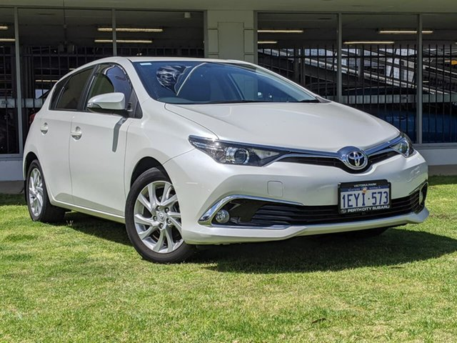 Used Toyota Corolla ZRE182R Ascent Sport S-CVT Victoria Park, 2015 Toyota Corolla ZRE182R Ascent Sport S-CVT White 7 Speed Constant Variable Hatchback