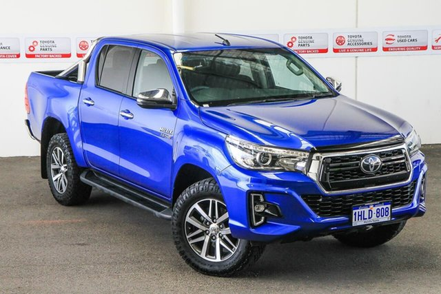 Pre-Owned Toyota Hilux GUN126R SR5 Double Cab Myaree, 2019 Toyota Hilux GUN126R SR5 Double Cab Nebula Blue 6 Speed Sports Automatic Utility