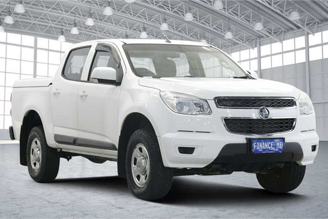 Used Holden Colorado RG MY15 LS Crew Cab 4x2 Victoria Park, 2015 Holden Colorado RG MY15 LS Crew Cab 4x2 White 6 Speed Sports Automatic Utility