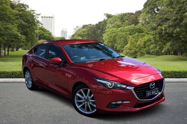 Used Mazda 3 BN5238 SP25 SKYACTIV-Drive GT Paradise, 2018 Mazda 3 BN5238 SP25 SKYACTIV-Drive GT Red 6 Speed Sports Automatic Sedan