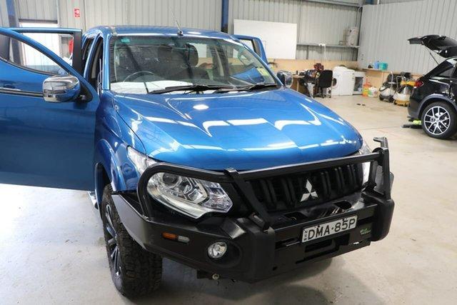 Used Mitsubishi Triton MQ MY16 GLS Double Cab Wagga Wagga, 2016 Mitsubishi Triton MQ MY16 GLS Double Cab Blue 5 Speed Sports Automatic Utility