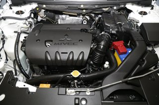 2012 Mitsubishi Lancer CJ MY13 LX White 6 Speed Constant Variable Sedan
