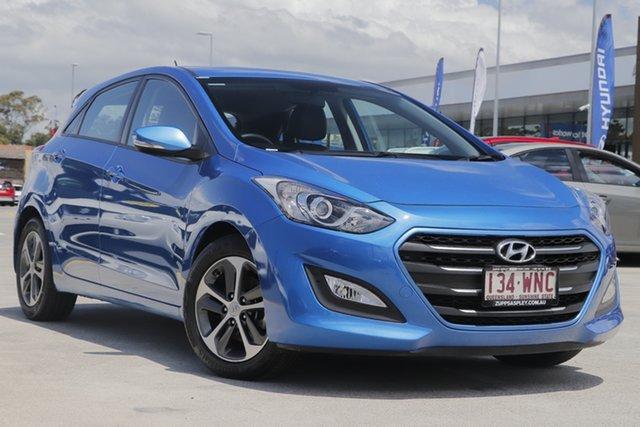 Used Hyundai i30 GD4 Series II MY17 Active X Aspley, 2016 Hyundai i30 GD4 Series II MY17 Active X Blue 6 Speed Sports Automatic Hatchback
