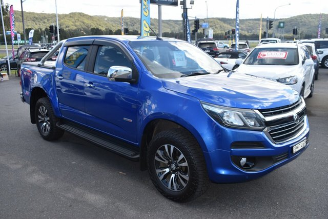 Used Holden Colorado RG MY18 LTZ Pickup Crew Cab Gosford, 2017 Holden Colorado RG MY18 LTZ Pickup Crew Cab Blue 6 Speed Sports Automatic Utility
