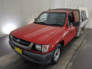 2004 Toyota Hilux RZN149R MY02 4x2 Red 5 Speed Manual Cab Chassis.