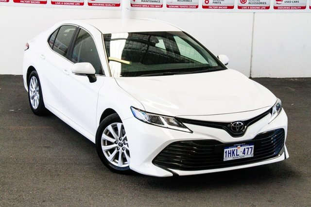 Pre-Owned Toyota Camry ASV70R Ascent Myaree, 2019 Toyota Camry ASV70R Ascent Glacier White 6 Speed Sports Automatic Sedan