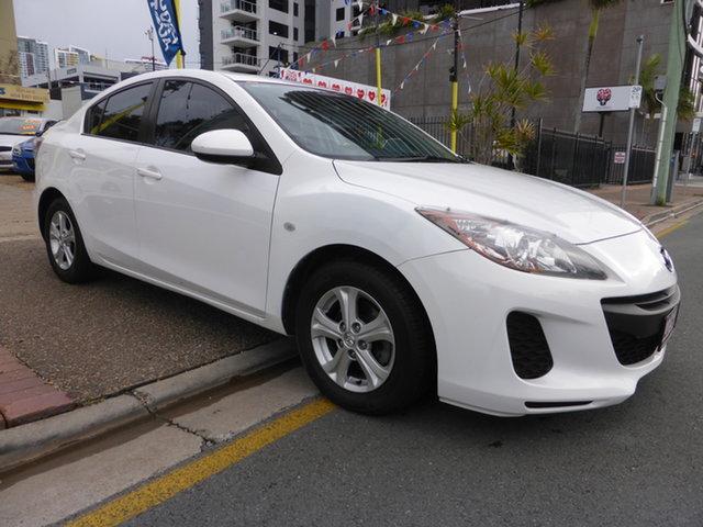Used Mazda 3 BL 10 Upgrade Neo Southport, 2011 Mazda 3 BL 10 Upgrade Neo White 6 Speed Manual Sedan