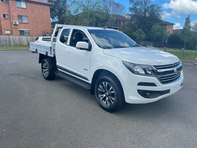 Used Holden Colorado RG MY19 LS (4x2) Bankstown, 2019 Holden Colorado RG MY19 LS (4x2) White 6 Speed Automatic Spacecab