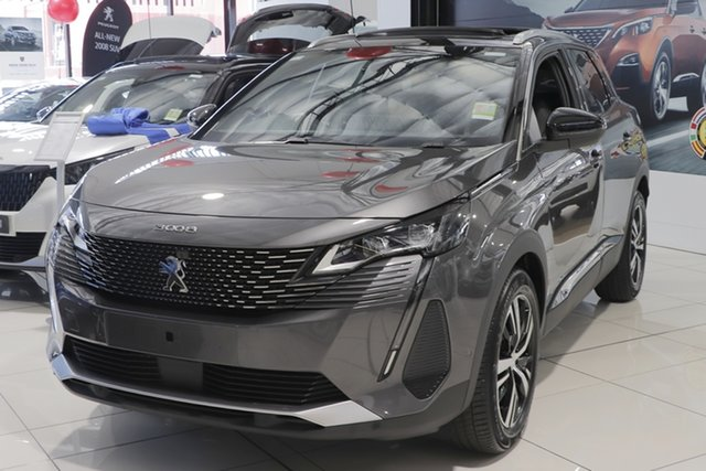 New Peugeot 3008 P84 MY21 GT SUV Cardiff, 2021 Peugeot 3008 P84 MY21 GT SUV Platinum Grey 6 Speed Sports Automatic Hatchback