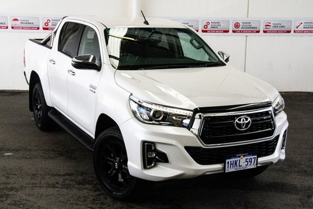 Pre-Owned Toyota Hilux GUN126R SR5 Double Cab Myaree, 2019 Toyota Hilux GUN126R SR5 Double Cab Crystal Pearl 6 Speed Sports Automatic Utility