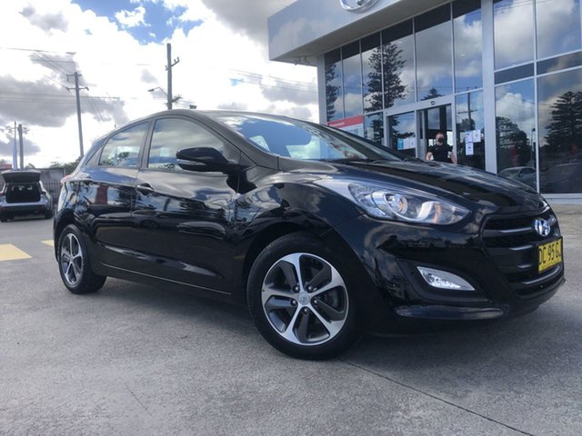 Pre-Owned Hyundai i30 GD3 Series II MY16 Active X Cardiff, 2015 Hyundai i30 GD3 Series II MY16 Active X Black 6 Speed Sports Automatic Hatchback