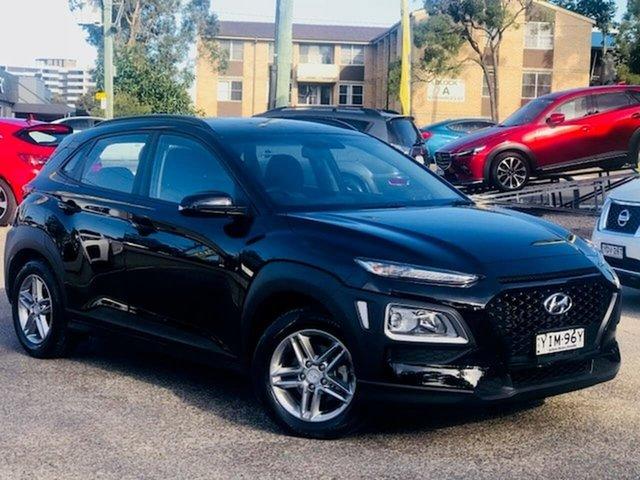 Used Hyundai Kona OS MY18 Active 2WD Liverpool, 2018 Hyundai Kona OS MY18 Active 2WD Black 6 Speed Sports Automatic Wagon