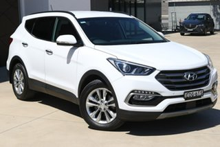 2017 Hyundai Santa Fe DM5 MY18 Elite White 6 Speed Sports Automatic Wagon.