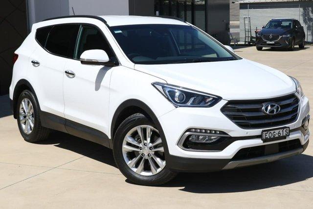 Used Hyundai Santa Fe DM5 MY18 Elite Tuggerah, 2017 Hyundai Santa Fe DM5 MY18 Elite White 6 Speed Sports Automatic Wagon