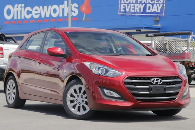 Used Hyundai i30 GD4 Series II MY17 Active Aspley, 2017 Hyundai i30 GD4 Series II MY17 Active Red 6 Speed Sports Automatic Hatchback