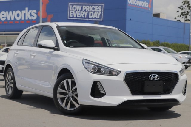 Used Hyundai i30 PD MY18 Active Aspley, 2017 Hyundai i30 PD MY18 Active White 6 Speed Sports Automatic Hatchback