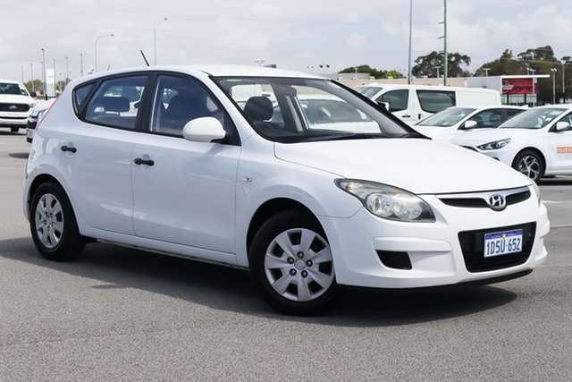 Used Hyundai i30 FD MY11 SX Wangara, 2011 Hyundai i30 FD MY11 SX White 4 Speed Automatic Hatchback