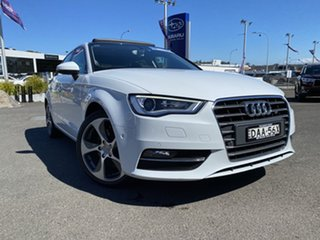 2015 Audi A3 8V MY15 Ambition Sportback S Tronic White 7 Speed Sports Automatic Dual Clutch.