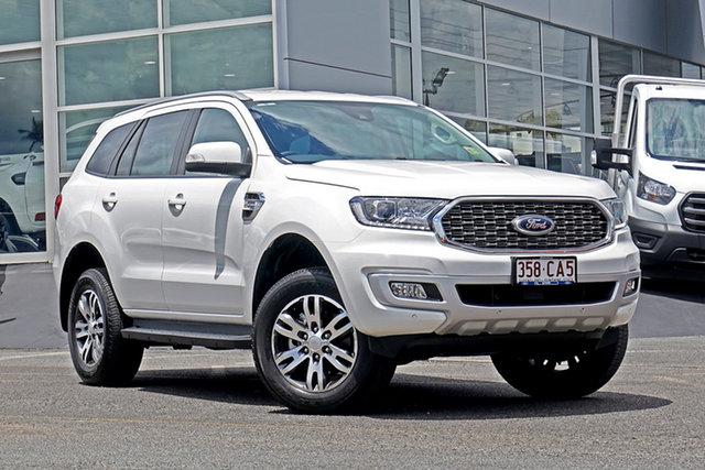 Used Ford Everest UA II 2021.25MY Trend Springwood, 2021 Ford Everest UA II 2021.25MY Trend White 10 Speed Sports Automatic SUV