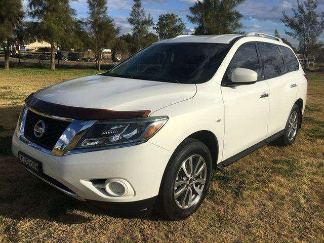 Used Nissan Pathfinder R52 ST Dubbo, 2015 Nissan Pathfinder R52 ST White Constant Variable