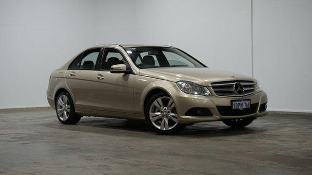 Used Mercedes-Benz C-Class W204 MY11 C200 BlueEFFICIENCY 7G-Tronic + Welshpool, 2011 Mercedes-Benz C-Class W204 MY11 C200 BlueEFFICIENCY 7G-Tronic + Gold 7 Speed Sports Automatic