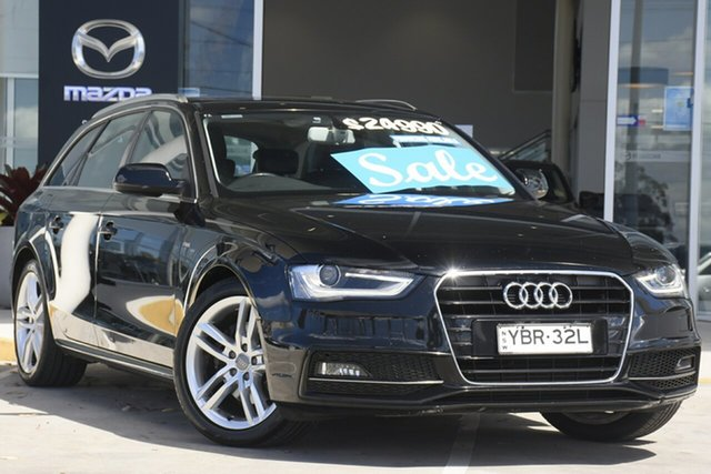 Used Audi A4 B8 8K MY15 S Line Avant Multitronic Kirrawee, 2014 Audi A4 B8 8K MY15 S Line Avant Multitronic Black 8 Speed Constant Variable Wagon